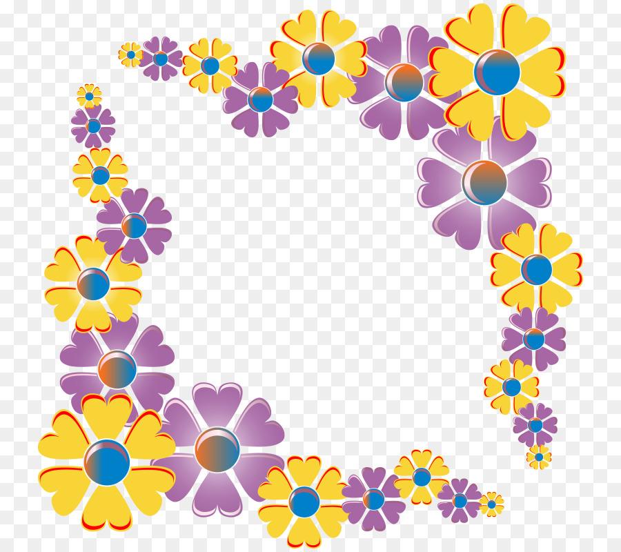 Clip art - watercolor flower borders png download - 800*800 - Free ...