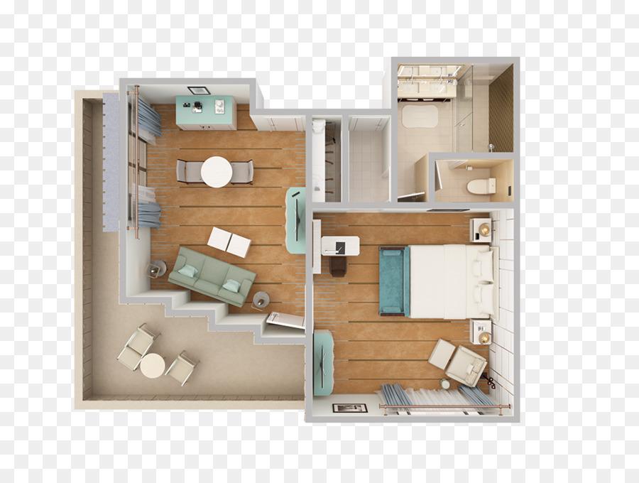 Arizona Biltmore Hotel 3D floor plan Suite Building - bed top view ...