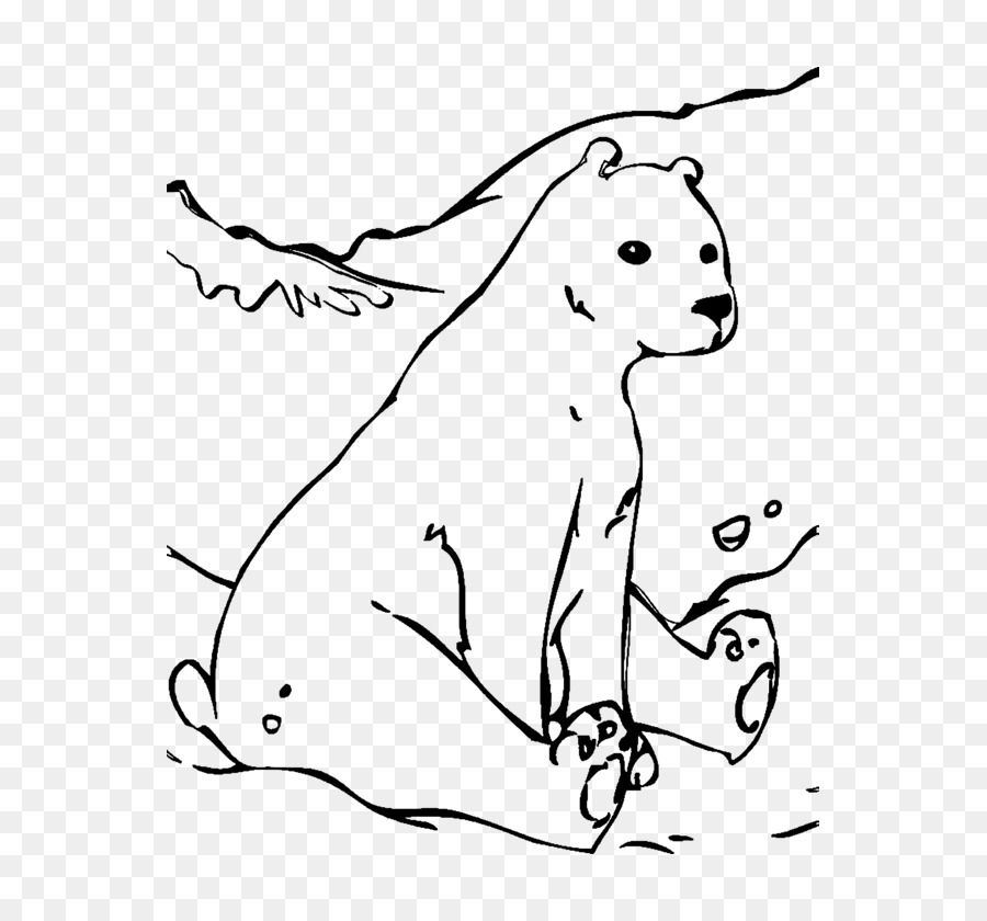 Polar bear Giant panda Coloring book Arctic - Transport png download ...