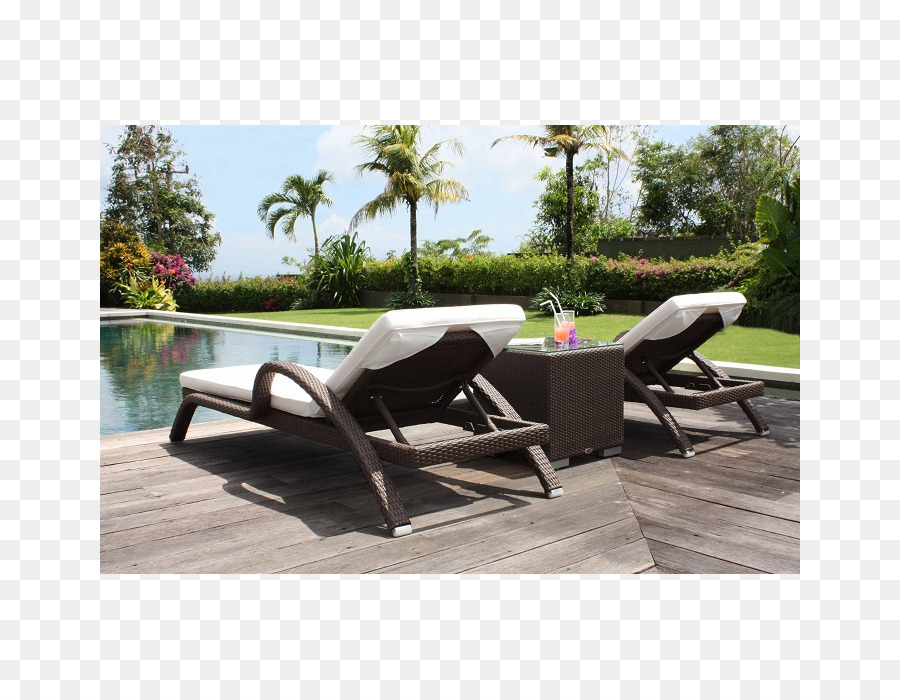 Garden Furniture Table Chair Wicker Sun Lounger Png Download 700
