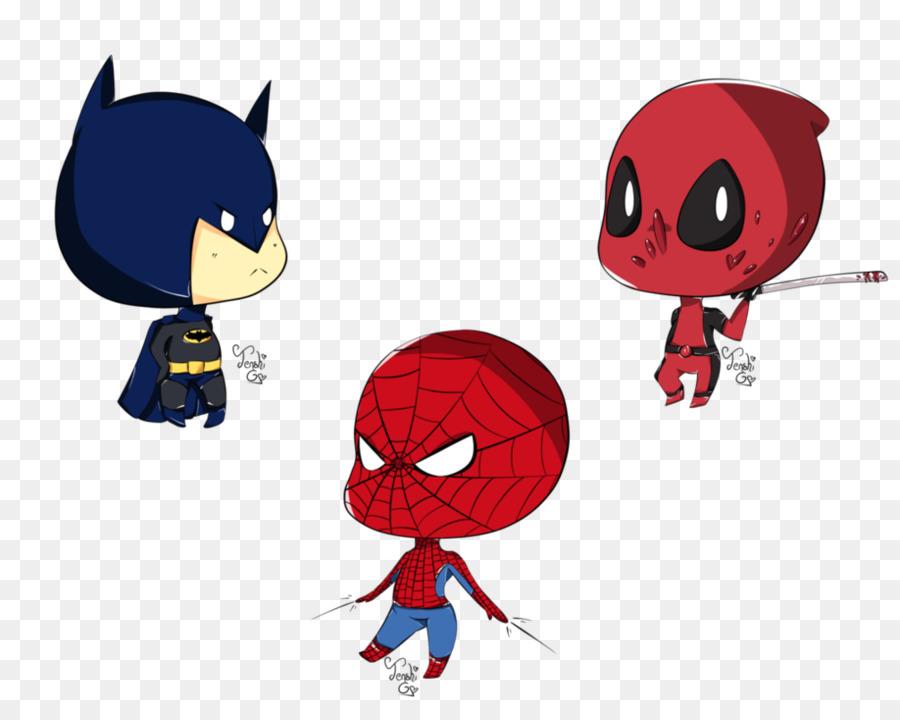 deadpool spider man batman superman drawing deadpool and spiderman