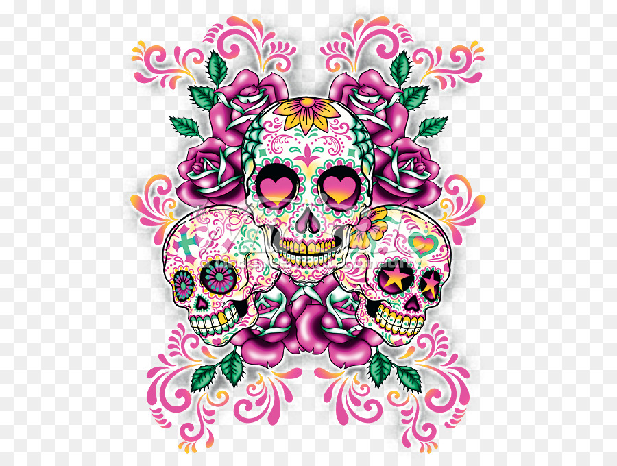 Calavera Skull Day Of The Dead Pastel Desktop Wallpaper