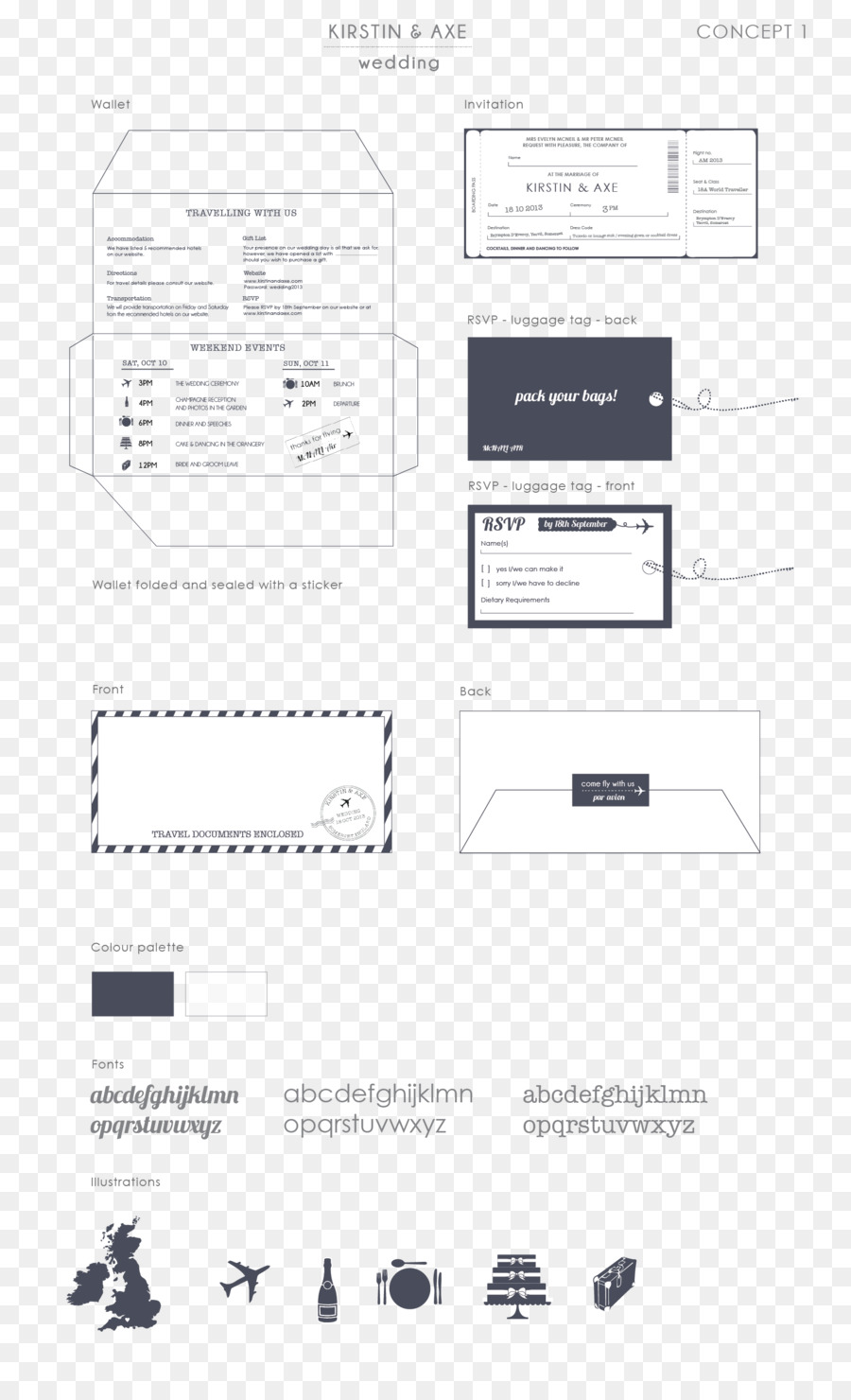 Wedding invitation Paper Map Boarding pass - plane thicket ...