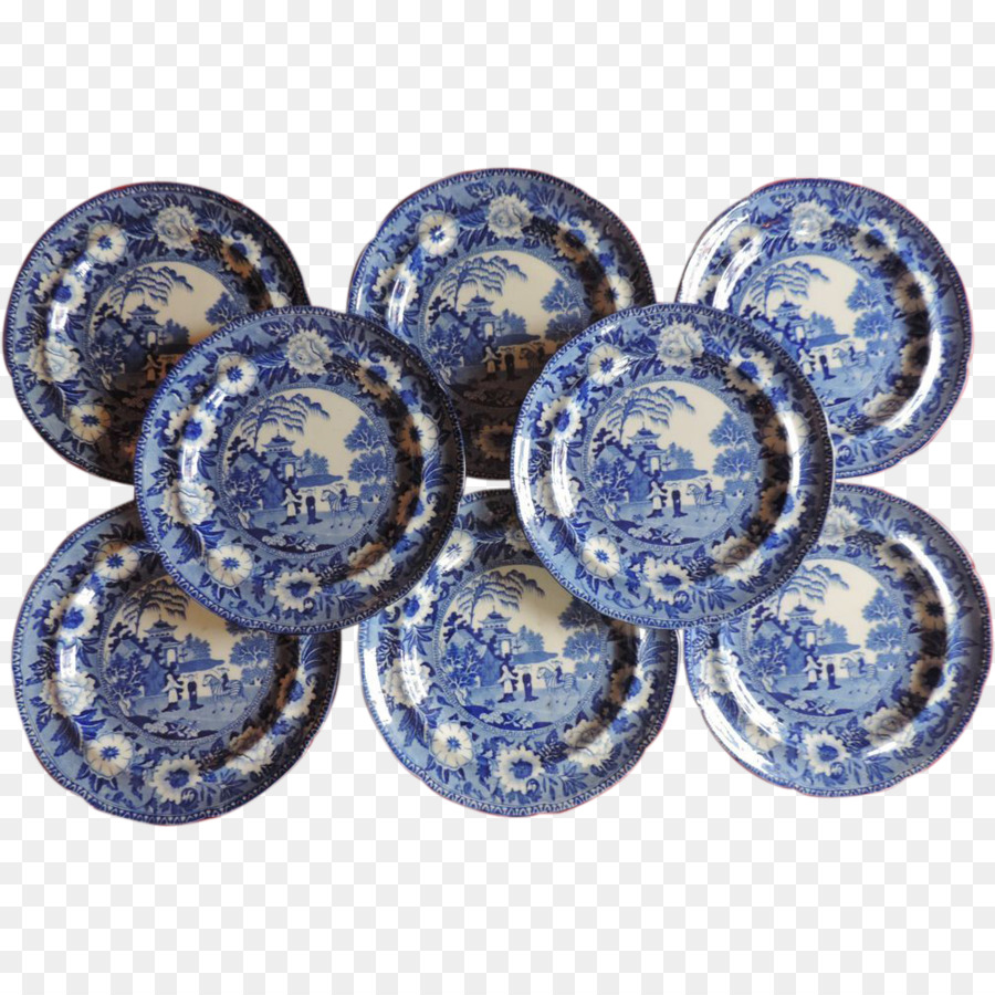 Blue Onion Blue and white pottery Plate Tableware Willow pattern - chinese pattern & Blue Onion Blue and white pottery Plate Tableware Willow pattern ...