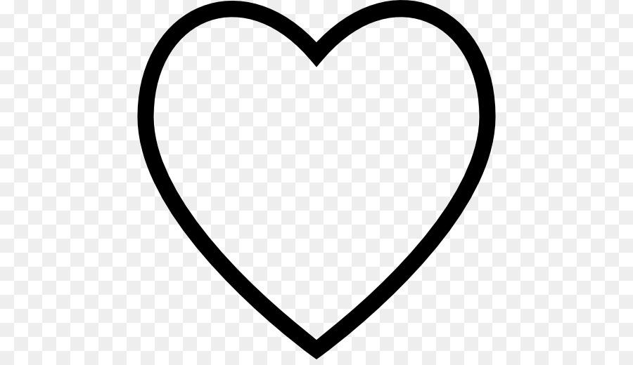 Libro para colorear, Símbolo en forma de Corazón Clip art - silueta ...