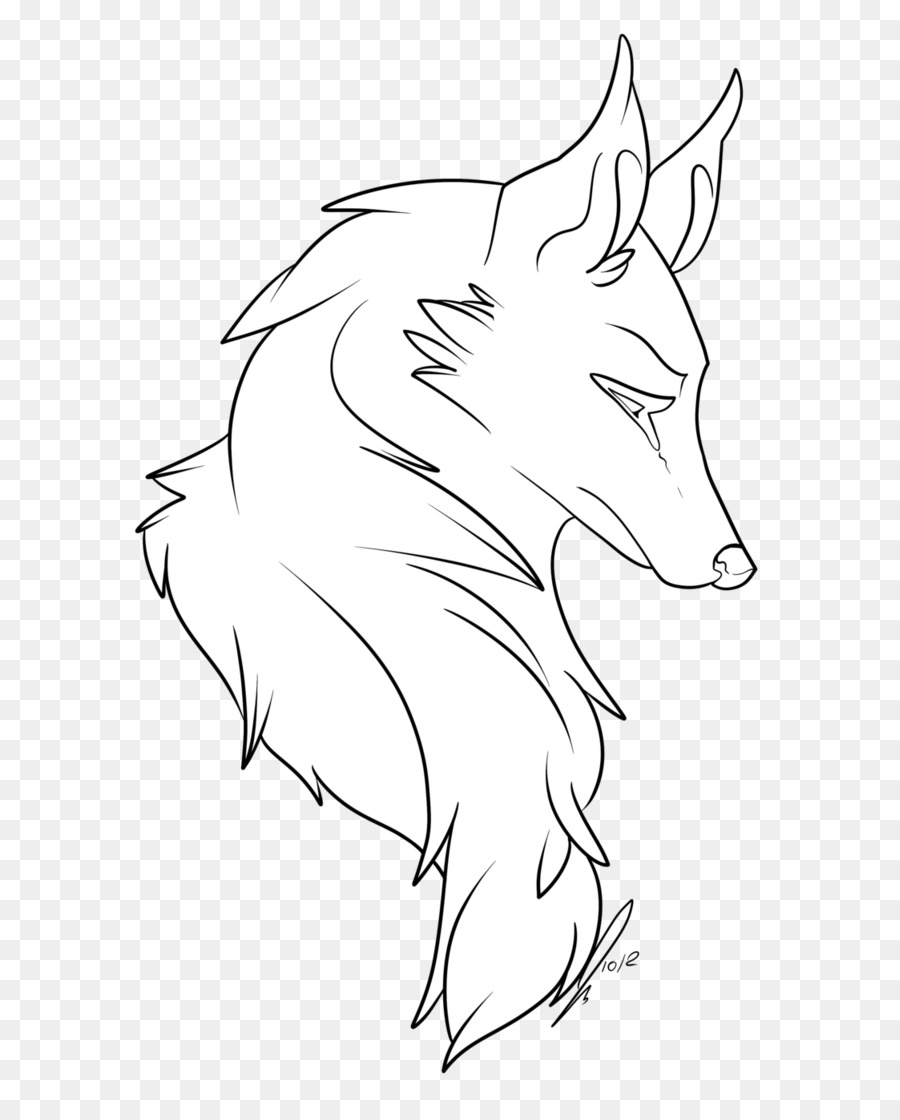 dog puppy drawing line art black wolf angry wolf face png download