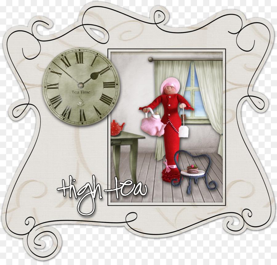 Marcos de fotos de Navidad ornamento Reloj de la Fuente - el té de ...