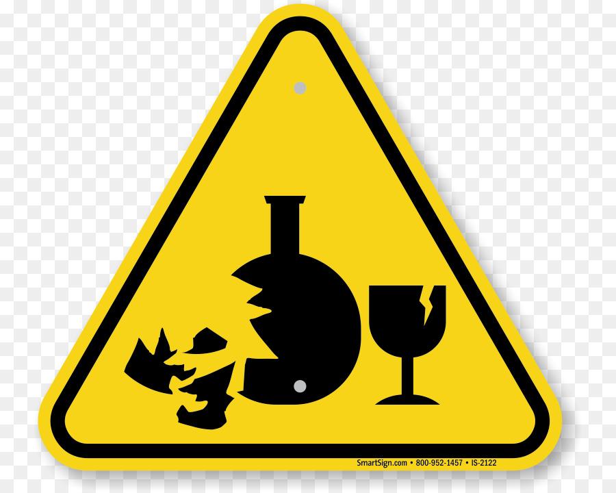 Hazard Symbol Warning Sign Glass Safety Warning Signs Png Download