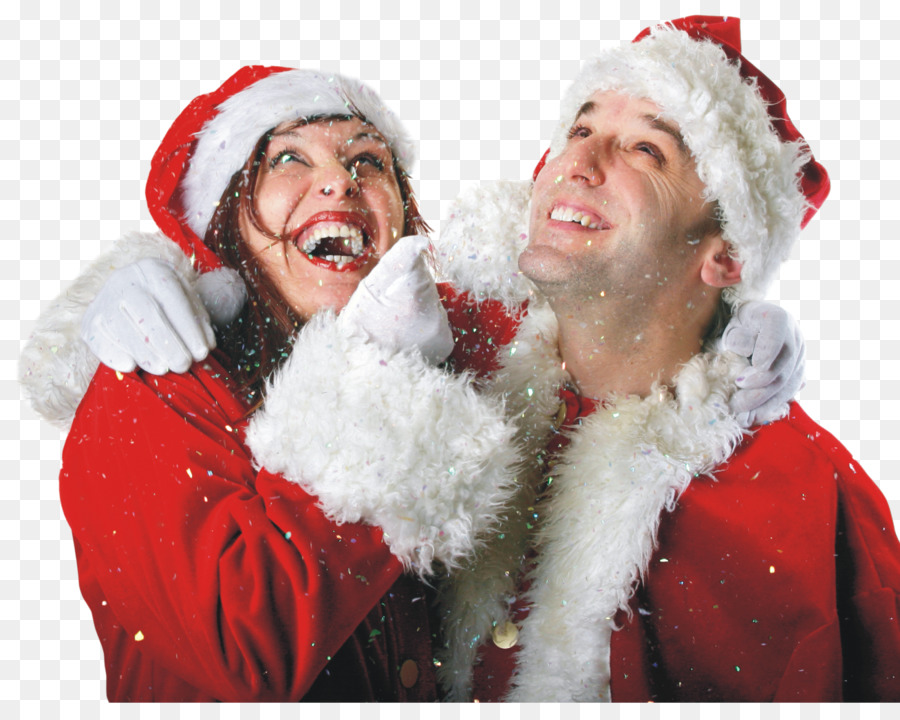 christmas couple santa claus christmas gift lovely couple