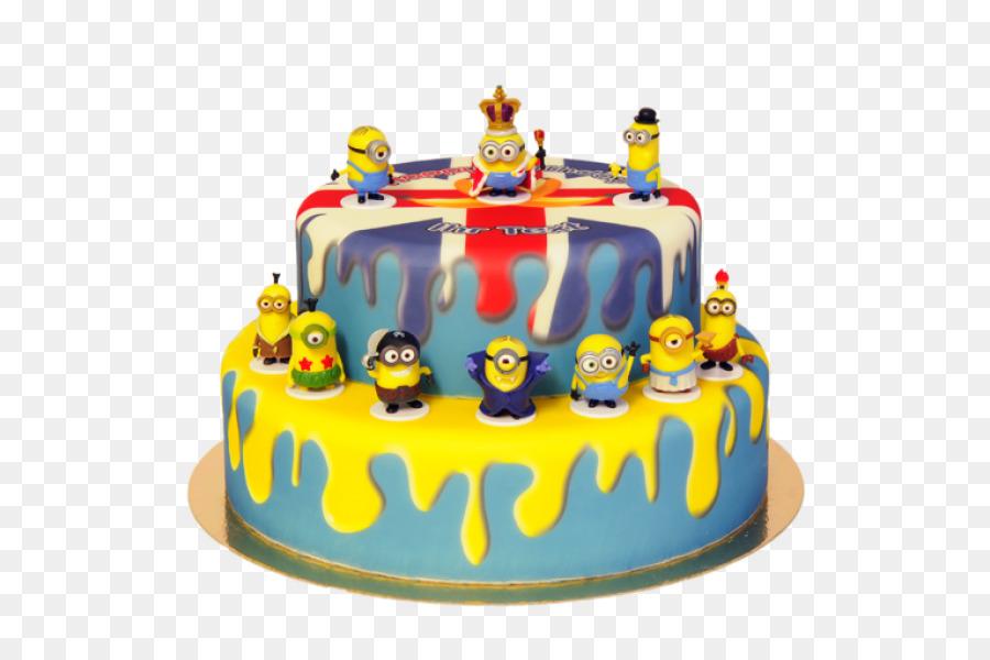 Torte Birthday Cake Sugar Cake Sugar Paste Minions Banana Png