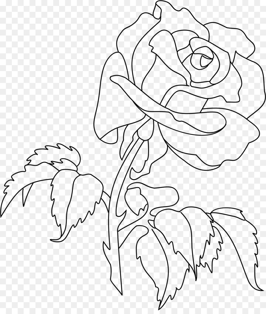 Rose Coloring book Flower Drawing Clip art - rose png download ...