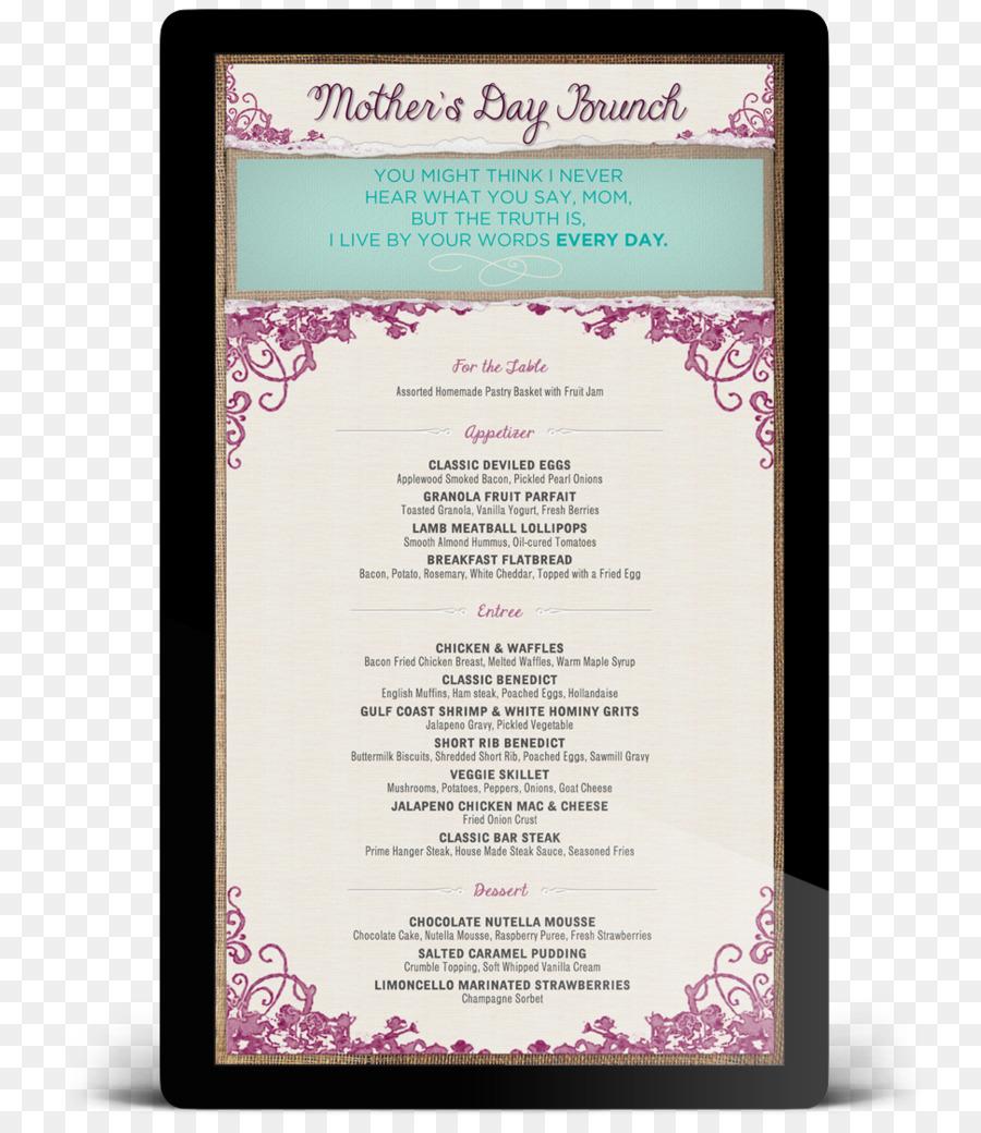 menu mothers day template buffet brunch menu templates print template