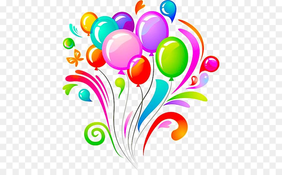 Birthday Cake Balloon Flower Petal PNG