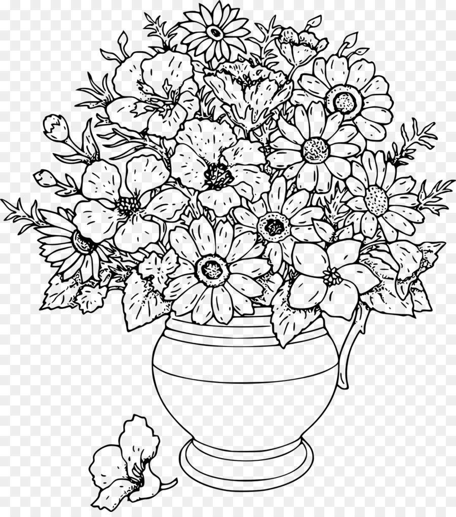 Buku Mewarnai Anak Bunga Mawar Taman Dewasa Bunga Unduh Simetri