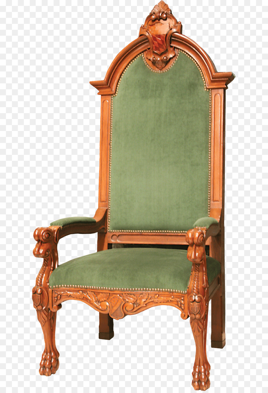 Chair Table Bishop Cathedra Priest   Green Pattern