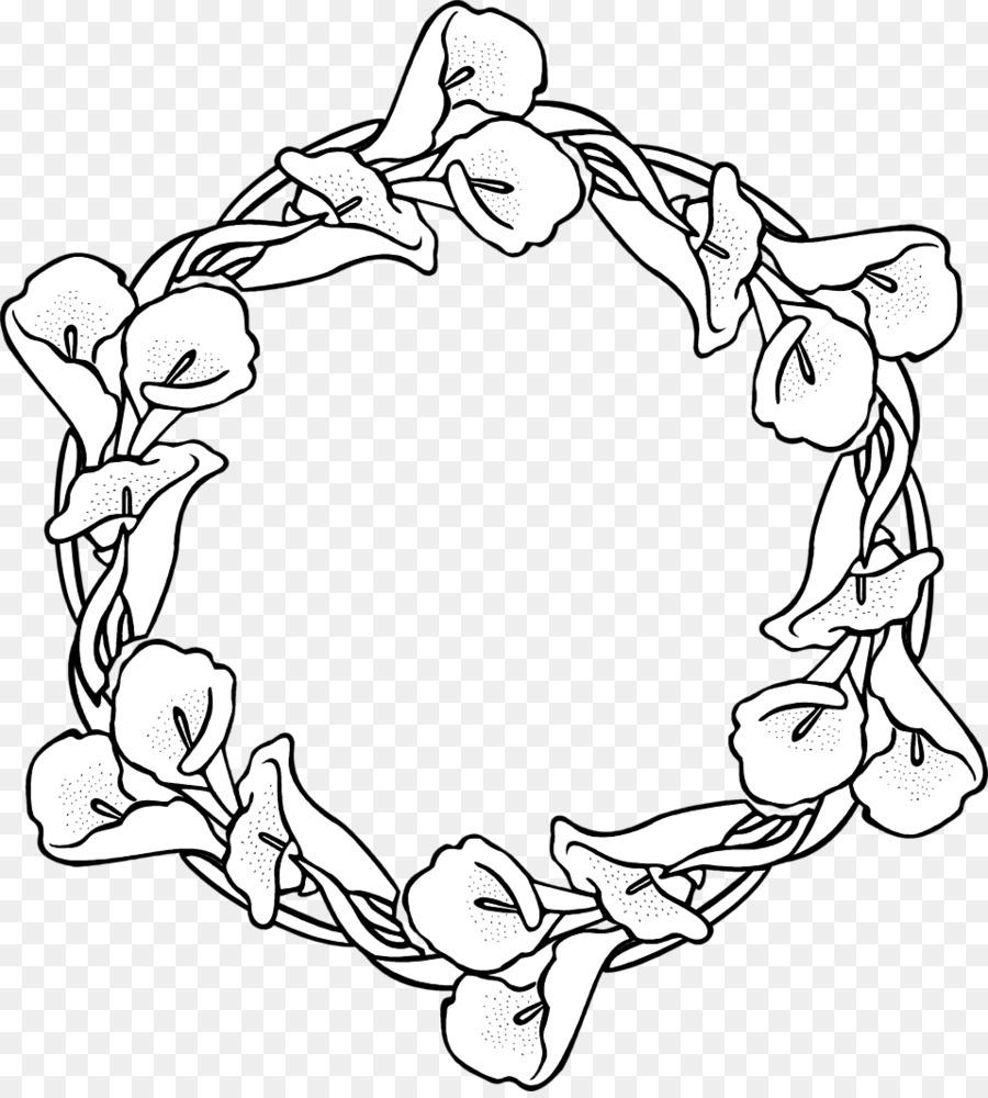 Wreath Garland Coloring Book Drawing Clip Art