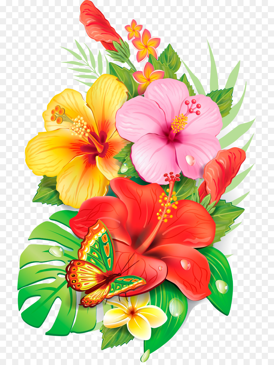 Drawing Flower Painting Floral Design Nice Flowers Png Download