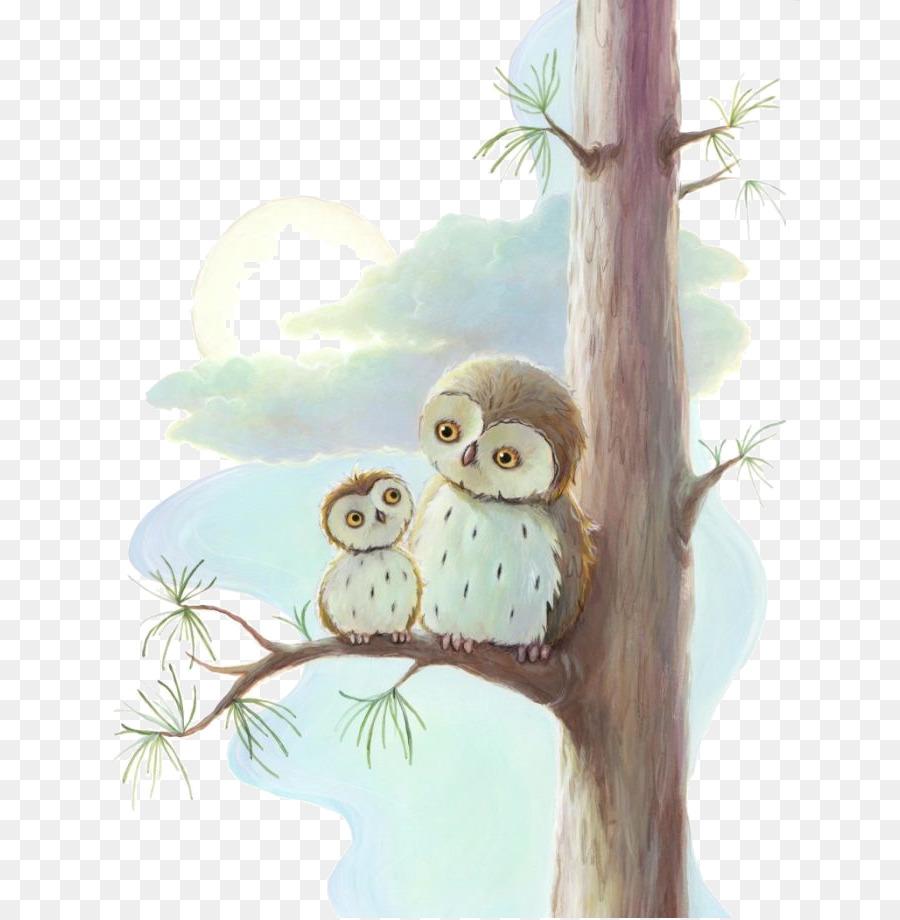 Desain Grafis Ibu Dongeng Artis Ilustrasi Burung Hantu Unduh
