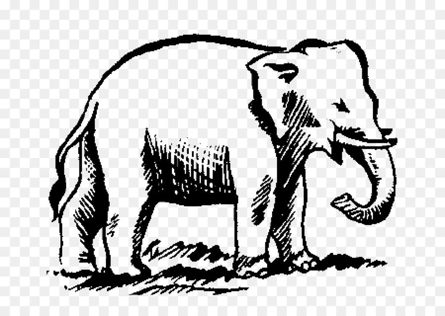 Elefante indio elefante Africano Símbolo libro para Colorear ...