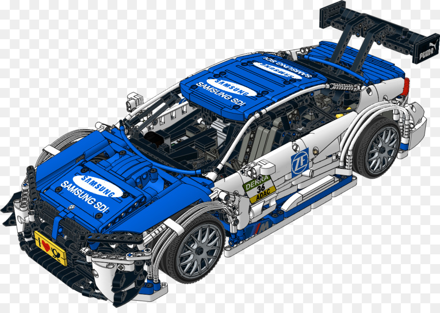 Bmw M4 Dtm Sports Car Lego Racers Instruction Png Download 1178