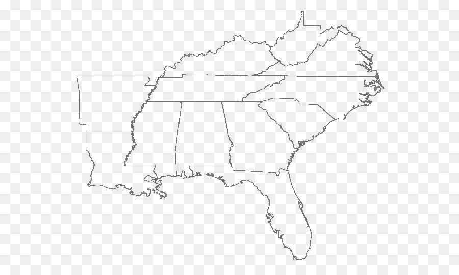 Southeastern United States East Coast of the United States Blank map ...