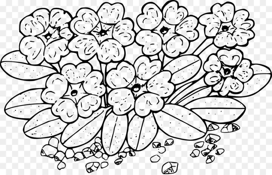 Libro para colorear, Dibujo de flores Silvestres - flor Formatos De ...