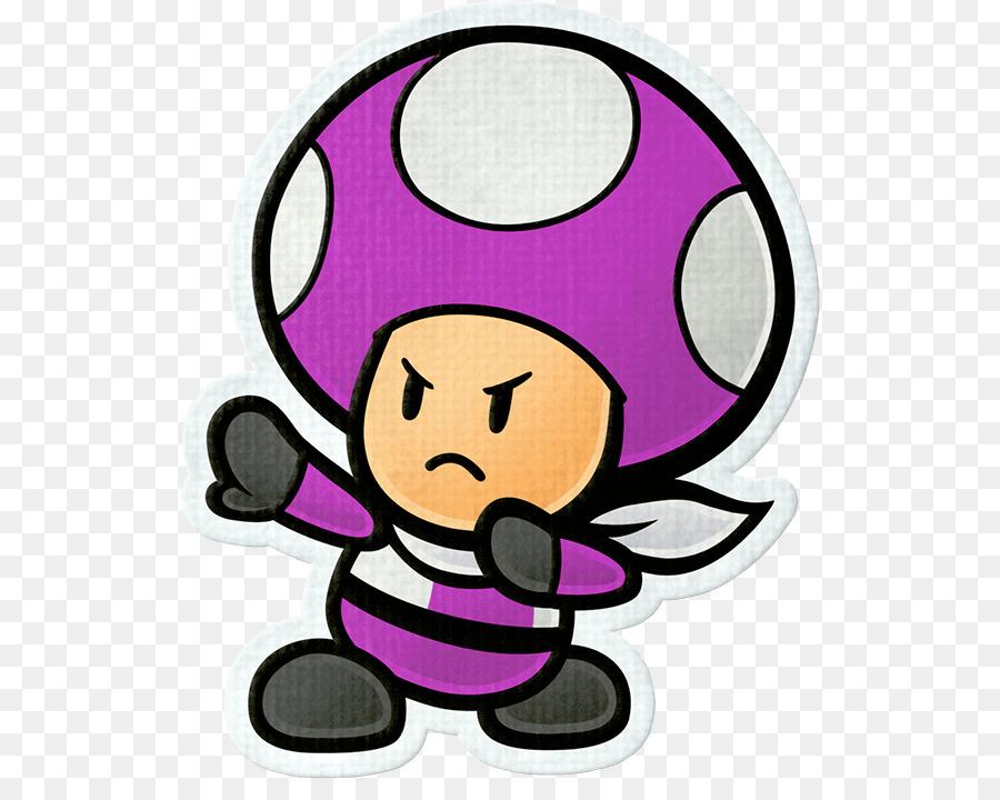 Toad Paper Mario Color Splash Sticker Star