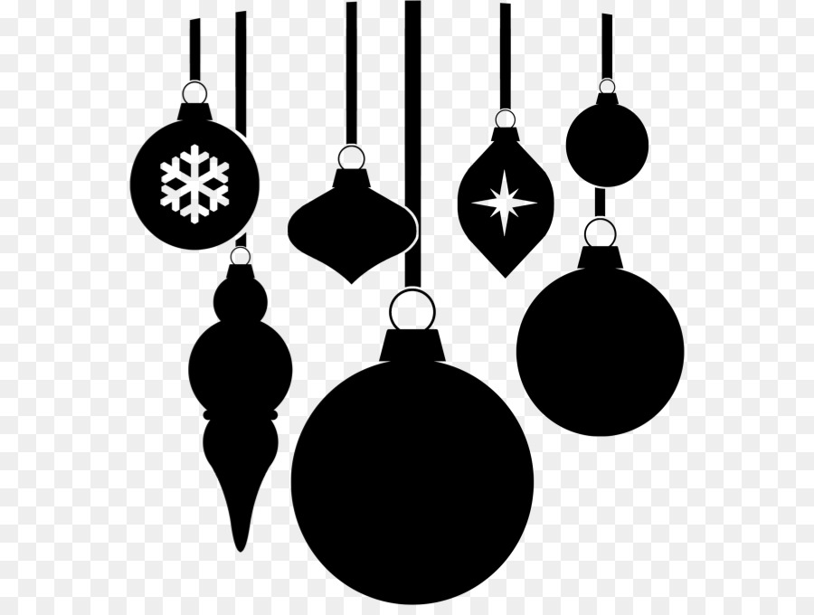 Christmas ornament Black and white Clip art - ornaments clipart png download - 614*670 - Free ...