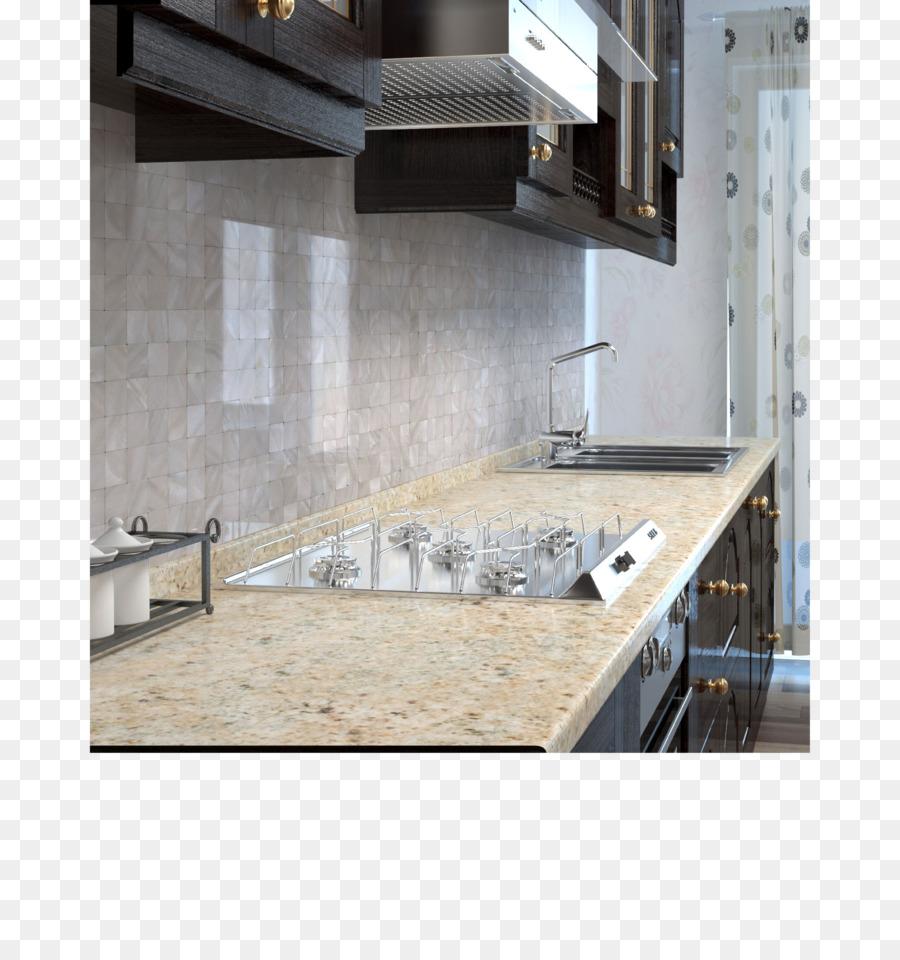 Kitchen Float glass Tile Countertop - tile design png download ...