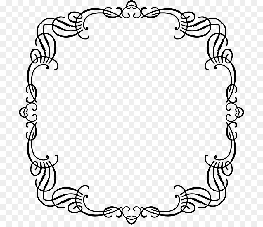 Ornament Coloring book Clip art - french border png download - 772 ...