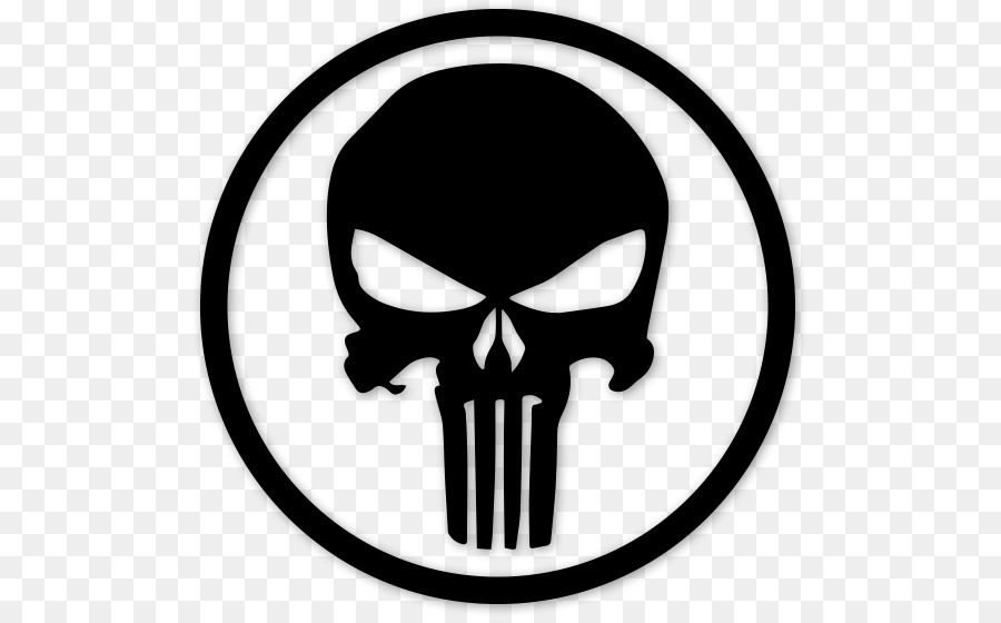 Punisher decal logo bumper sticker bearded vector