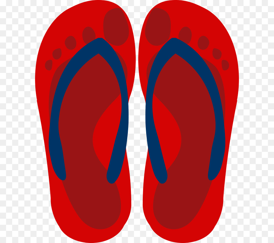0277973b14770 Flip-flops Red Shoe Clip art - footprint vector png download - 670 800 -  Free Transparent Flipflops png Download.