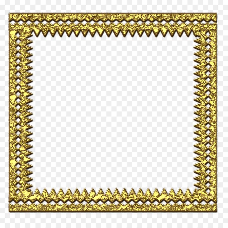 Picture Frames Gold Clip art - metal border png download - 1000*1000 ...