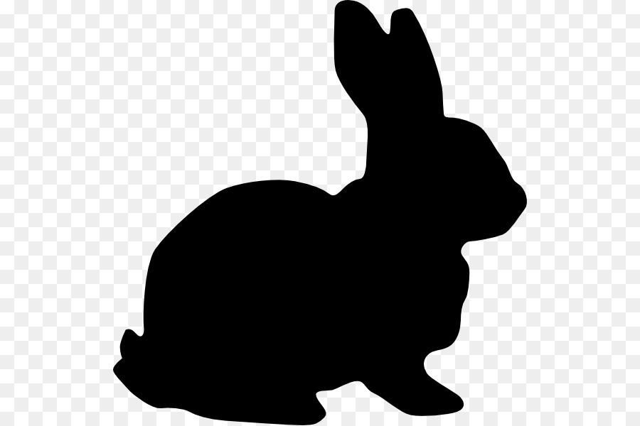 rabbit silhouette clip art bunnies vector png download 582 599 rh kisspng com clip art rabbit footprints clip art rabbit pictures