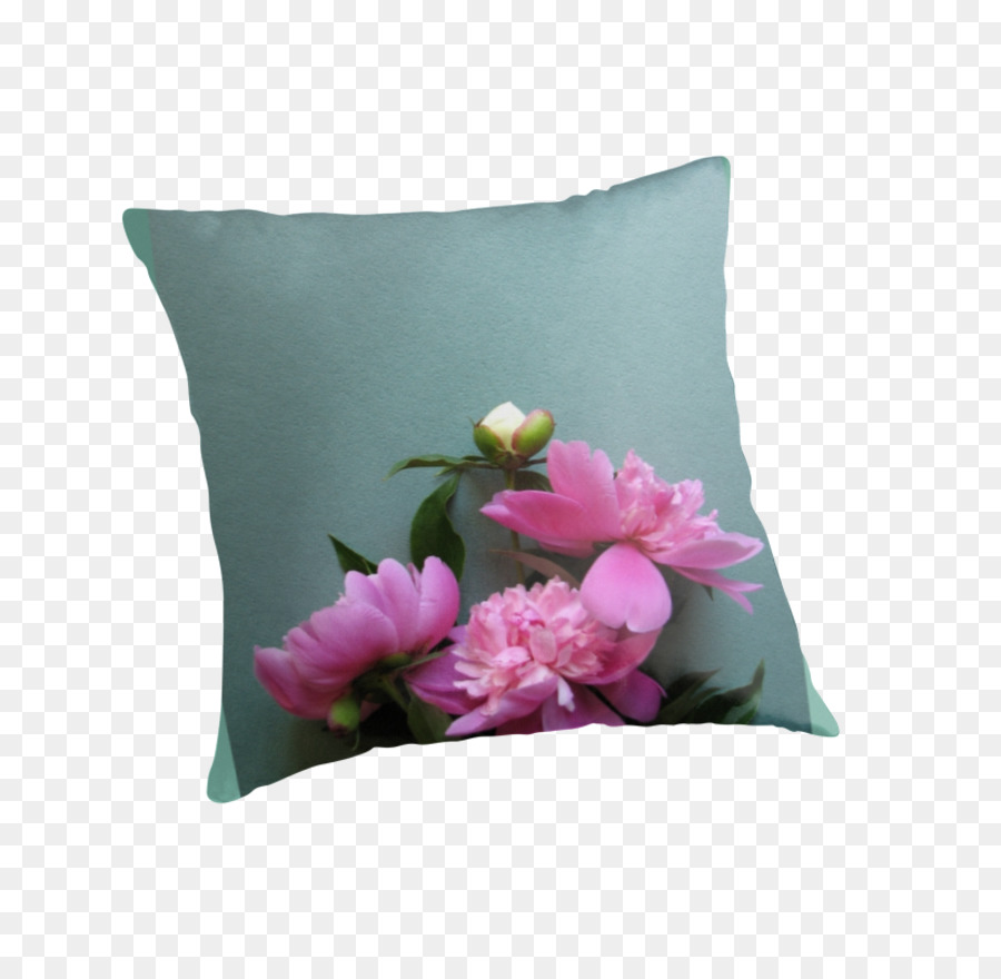 Cut Flowers Throw Pillows Cushion Pink Peony Png Download 875