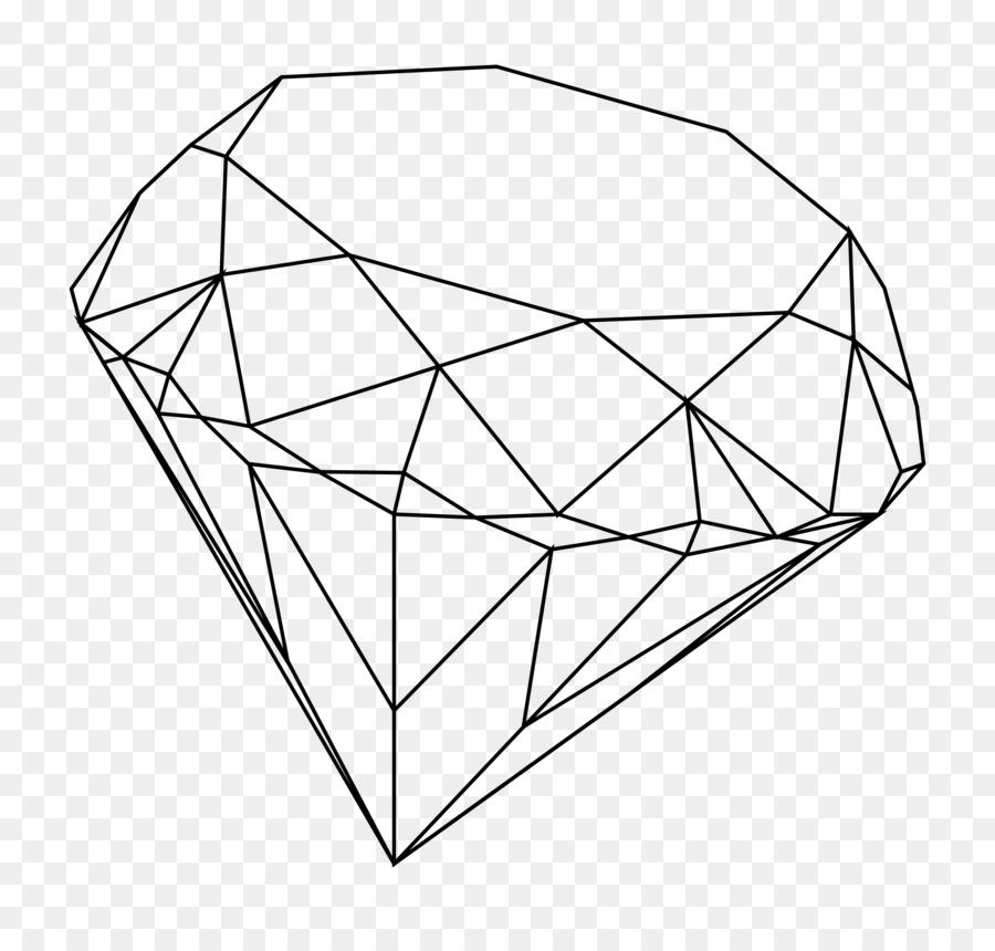 Línea de dibujo en el arte de Diamante Clip art - diamante Formatos ...
