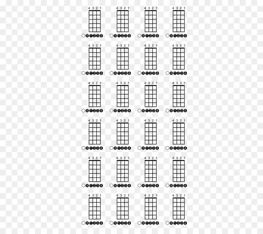 Ukulele Guitar chord Bass guitar Chord chart - chord vector png ...