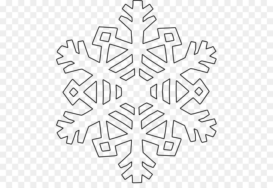 arte de linha de floco de neve para colorir desenho pintura em