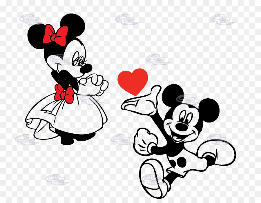 Mickey Mouse Minnie Mouse Coloring book - Heart Flyer png download ...