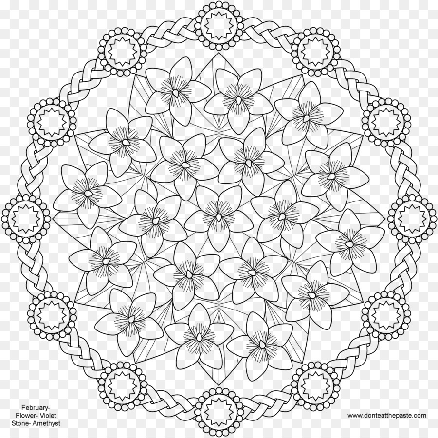 Mandala Coloring Book Child Adult Flower