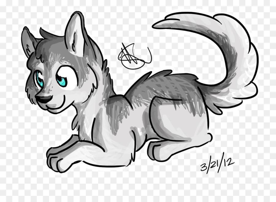 Husky siberiano Cachorro de Alaskan husky Dibujo - dibujos animados ...