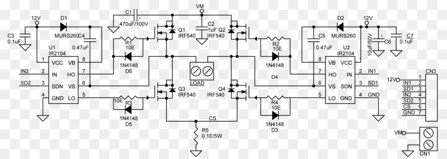 H bridge Motor controller Electronic circuit Wiring diagram Circuit ...