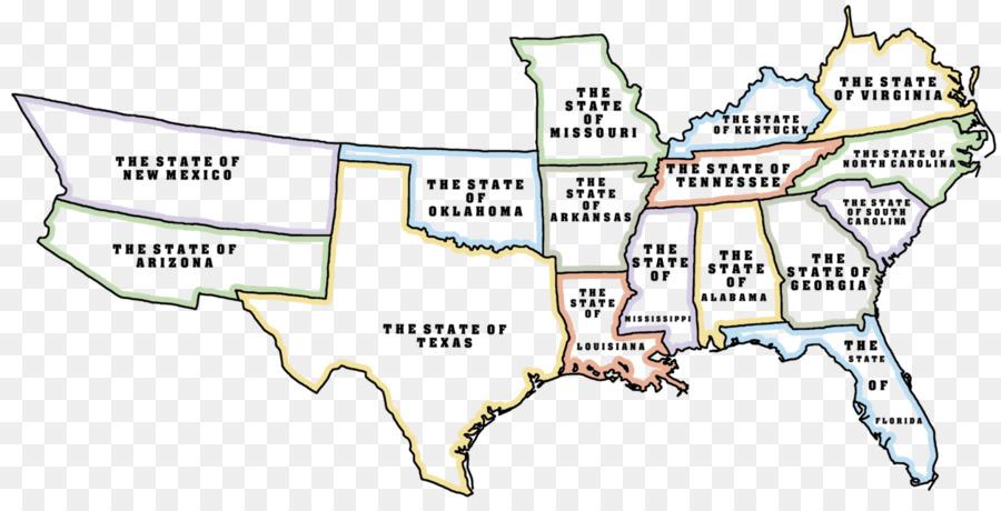 United States Confederate States of America American Civil War Map ...