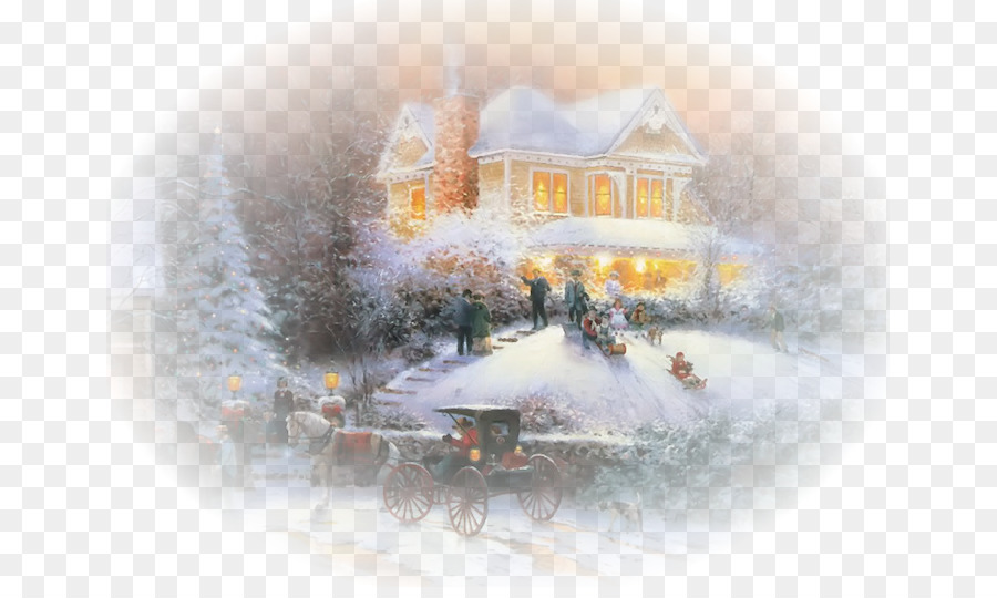 Maler Christmas Cottage - Weihnachten Szene png herunterladen - 707 ...