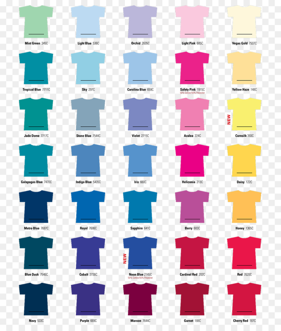 T Shirt Gildan Activewear Color Chart Top Color Chart Png Download