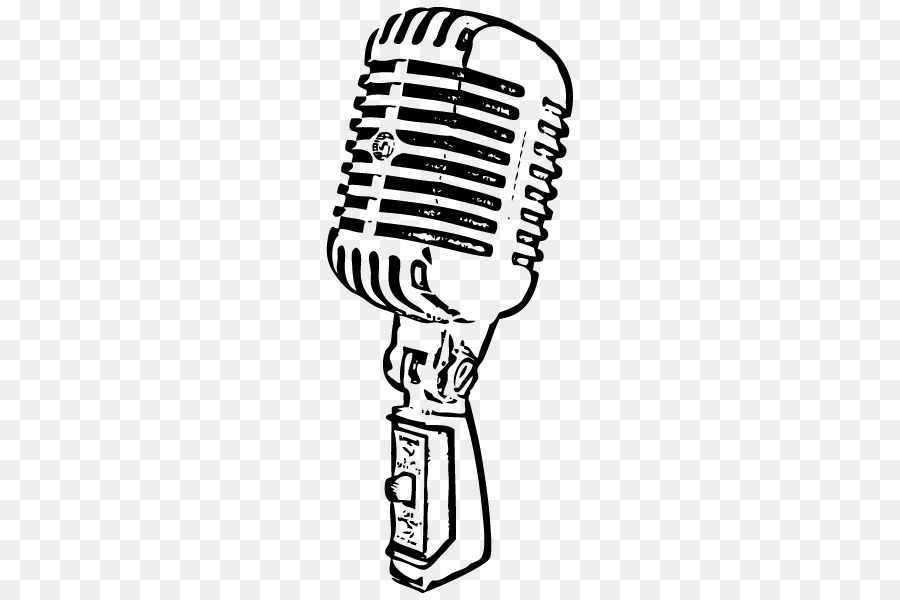 Line Art Microphone : Wireless microphone drawing vintage radio png download