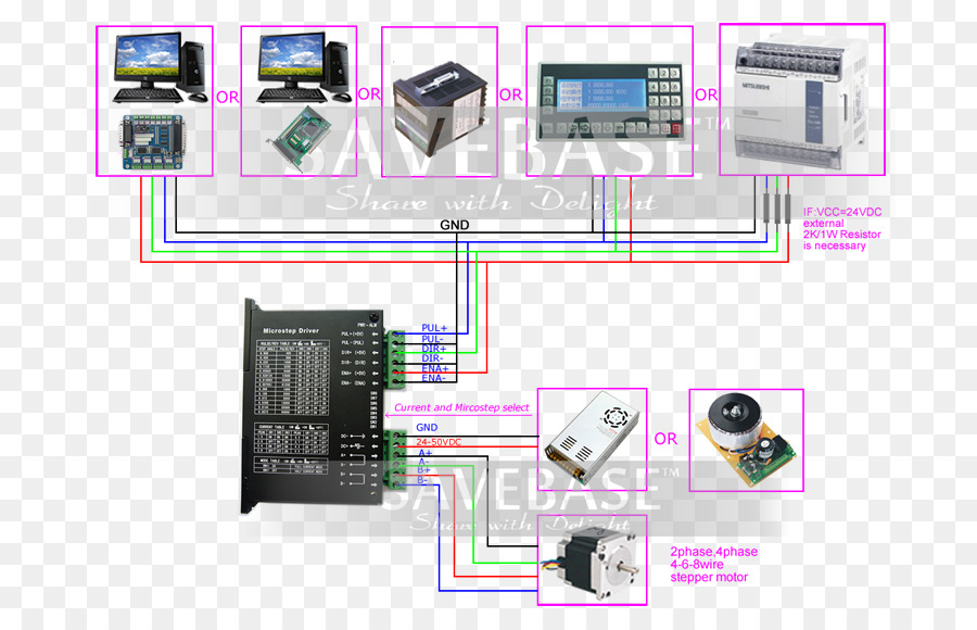 Stepper Motor Wiring Diagram Electric Motor Controller Doorplate