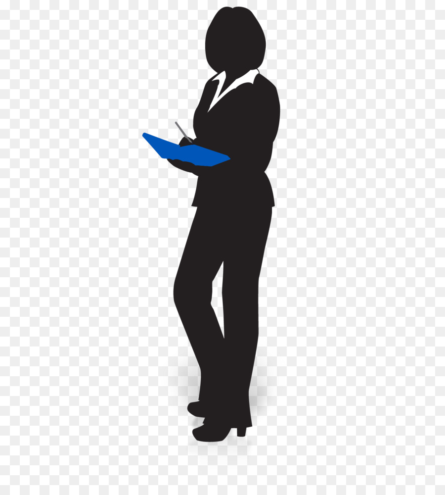 Executive Clip Art: Businessperson Silhouette Manager Clip Art