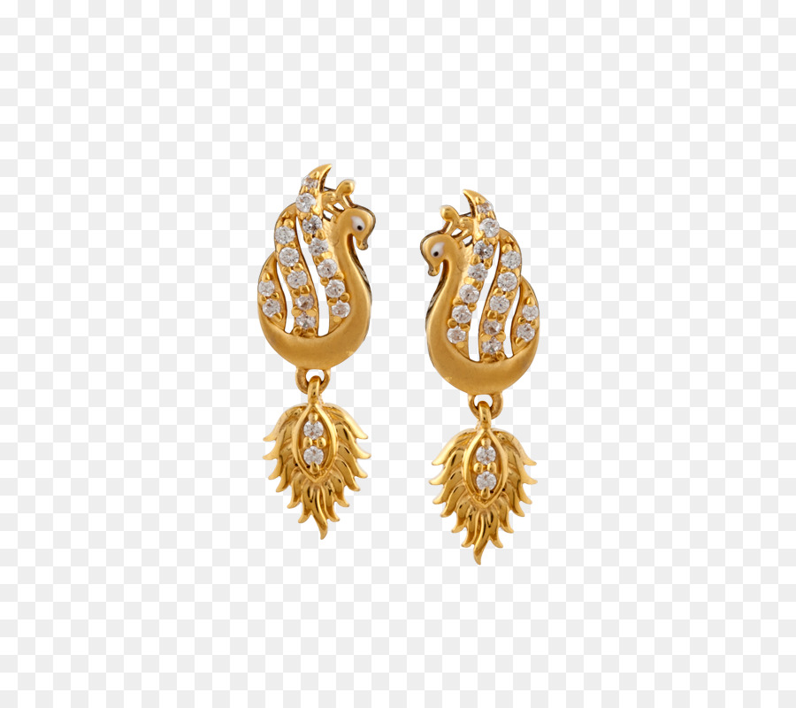 Earring Jewellery Gold Necklace Designer golden peacock png