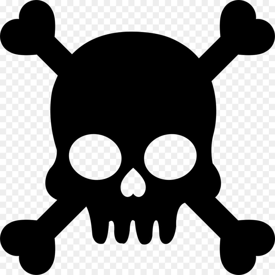 skull silhouette clip art bones vector png download 980 980 rh kisspng com free vector skull and crossbones skull and crossbones free vector art